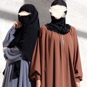 Abaya Nazifa Rostbraun